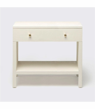 """Maura Wide """"Linen"""" Side Table 