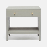 "Maura Wide ""Linen"" Side Table 