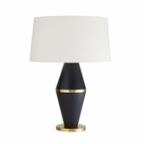 Maurice Leather & Brass Lamp