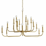 Maven Grand Chandelier | Brass