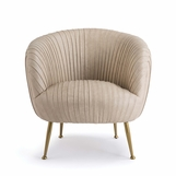 Melinda Leather Chair | Beige