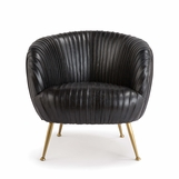 Melinda Leather Chair | Black