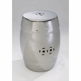 Metallic Ceramic Stool | Chrome