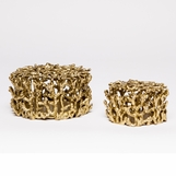 Mina Brass Boxes Set | Gold