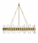 Miskell Brass & Lucite Grand Chandelier | Oval