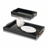 Mombusa Rectangular Trays | Black