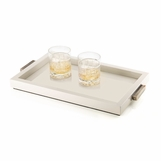 Mombusa Rectangular Trays | Champagne