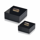 Mombusa Square Lacquer Boxes | Black