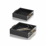 Mombusa Square Trays | Black