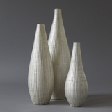 Moonstone Etched Vases | Set of 3