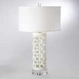 Moorish Marble Table Lamp | Round