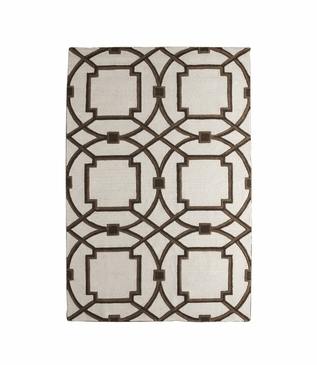 Moresque Wool Rugs   Brown