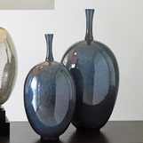 Mystique Ceramic Vases | Black-Blue