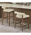 Nelson Leather Bar Stools | White