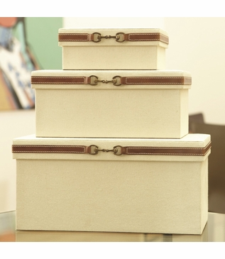 Nettles Canvas Boxes   Set of 3