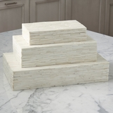 Neville Chiseled Bone Boxes | Natural