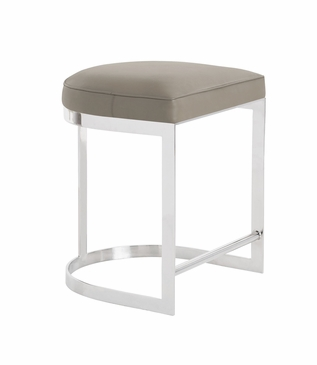 Nichols Counter Stool | Grey Leather