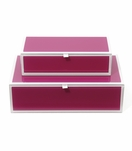 Nicole Glass Boxes | Pink