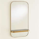 Nixon Brass Shelf Mirror | Black Marble
