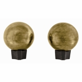 Norah Sphere Andirons Set | Brass