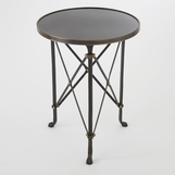 Normandie Round Table | Iron & Black Granite
