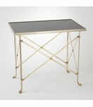 Normandie Table | Brass & Black Granite