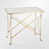 Normandie Table | Brass & White Marble