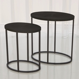 Novano Side Tables | Grey Steel