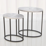 Novano Side Tables | Nickel
