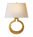 O Sconce | Antique Brass