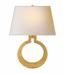 O Sconce | Gold Leaf