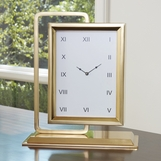 Observe Clock & Mirror | Brass