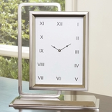 Observe Clock & Mirror | Nickel