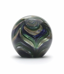 Orbus Glass Paperweight | Peacock