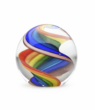 Orbus Glass Paperweight | Rainbow Twist