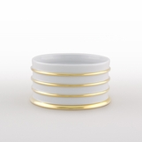 Ovar Bottle Holder | White & Gold