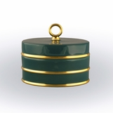Ovar Finial Box | Peacock & Gold