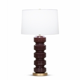 Ovid Tall Table Lamp | Burgundy