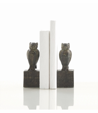 Owl Iron Bookends