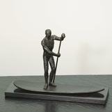 Paddler Iron Sculpture
