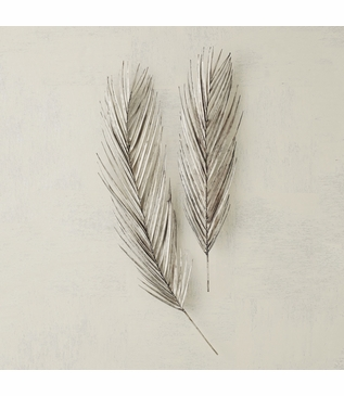 Palm Leaf Wall Sculptures | Antique Nickel