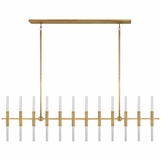 Palomar Linear Chandelier | Brass