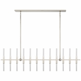 Palomar Linear Chandelier | Nickel
