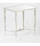 Parliament Rectangular Table | Nickel & Mirror
