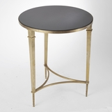 Parliament Round Table | Brass & Black Granite