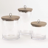 Pastoral Lidded Glass Jars