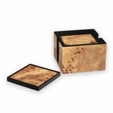 Pauley Wood Coasters Set | Natural Burl