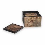 Pauley Wood Coasters Set | Smoky Burl