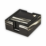 Pauley Wood Coasters Set | Zebra