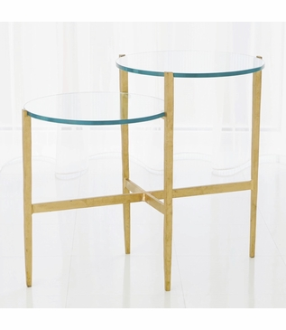 Pauline Tiered Side Table | Gold